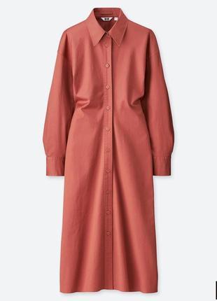 Платье-рубашка от uniqlo, размер м