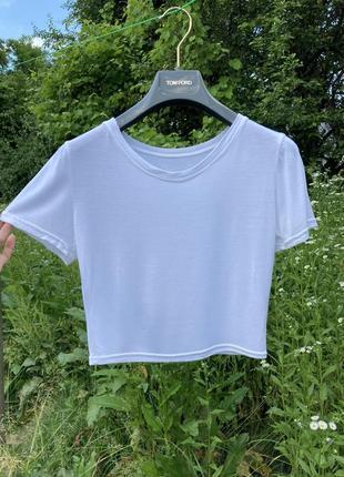 База кроп топ  футболка минимализм