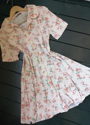 Красивое  платье от  zara на пуговицах
