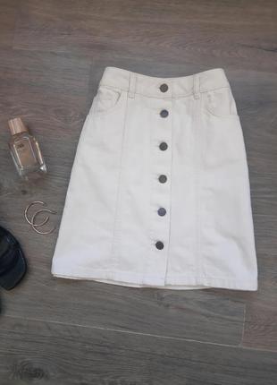 Джинсовая юбка на пуговицах. джинсова спідниця