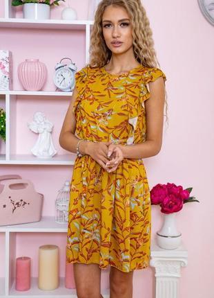 Платье женское 115r410-4 цвет горчичный (4 цвета)