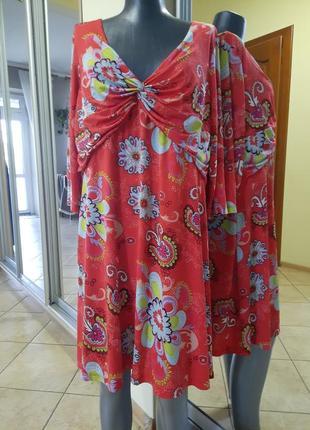 Яркое платье 👗большого размера