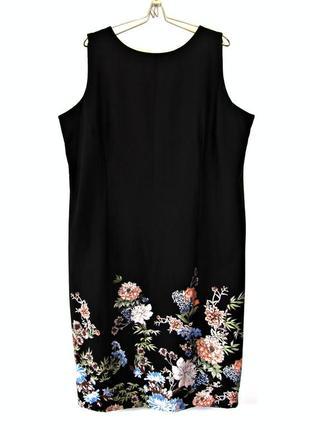 Утонченное платье с цветочным купоном из хлопка р.20