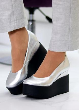 """Туфли """"""""stone"""""""" кожа натуральная кожаные шкіряні туфлі лодочки"""