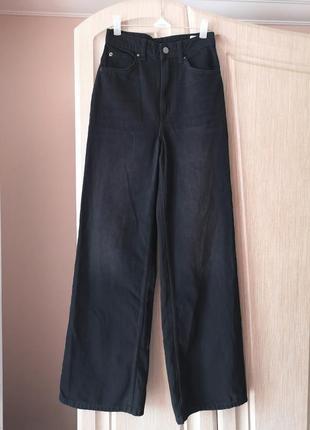 Широкие трендовые джинсы wide leg h&m 32 (xxs)