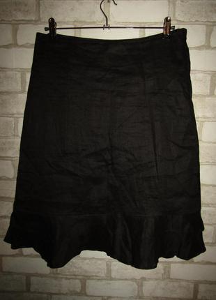 Натуральная юбка р-р л сост новой h&m