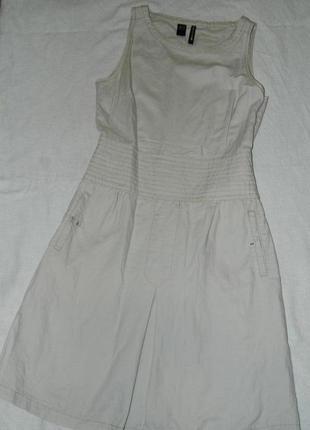 Льняное платье от mango