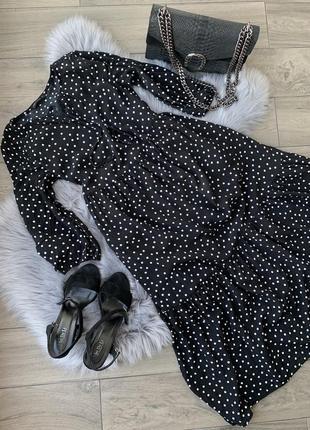 Платье миди в горошек lcw