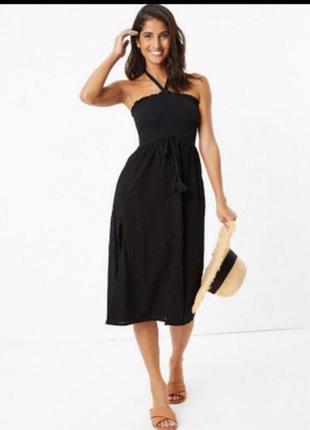 Пляжное платье туника летний сарафан хлопок сукня міді