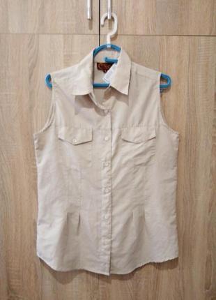 Блузка безрукавка рубашка m-l