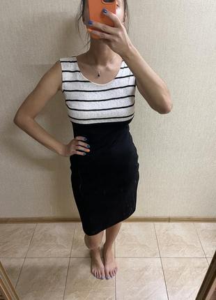 Трикотажное офисное платье 38р.