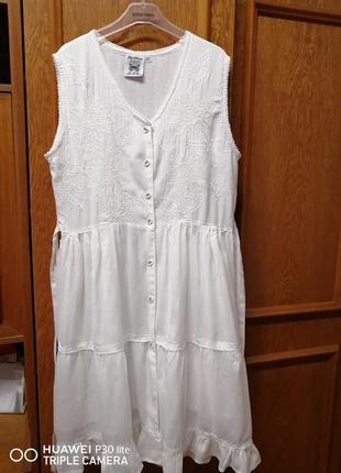 Летнее белое платье papillon