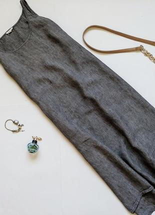 Льняное платье миди eileen fisher