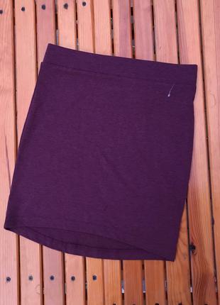 Баклажановая юбка летняя легкая