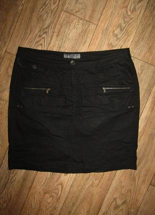 3=4 черная юбка р-р 16-18 бренд cecil