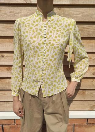 Блуза блузка рубашка шёлк шифон на пуговицах шовк mulberry малберри
