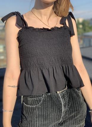 Драпірований топ-блуза h&m