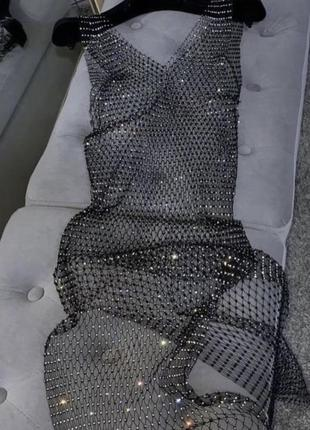 Платье накидка сетка камни zara asos