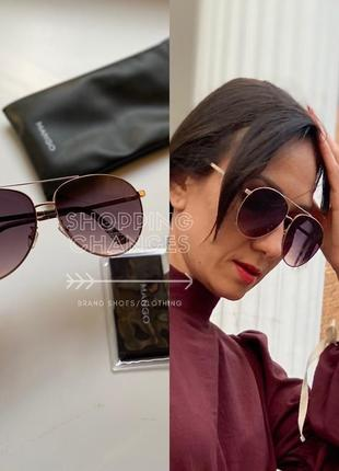 Новые солнцезащитные очки-авиаторы mango uv защита
