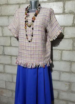 Плетеная блуза мешковина оверсайз