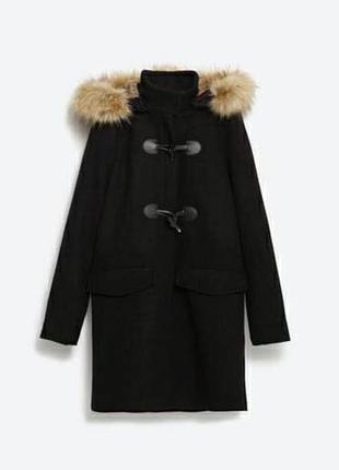 Тепле пальто zara осінь-зима