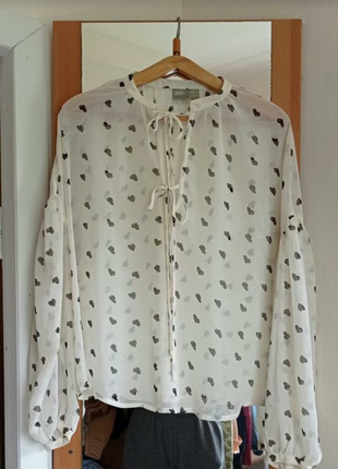Блуза рубашка шифон размер м