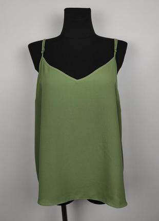 Блуза легкая стильная цвета хаки uk 20/48/3xl
