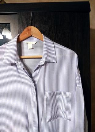 Рубашка оверсайз h&m