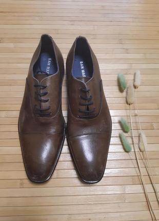 Туфлі san marina шкіряні кожание туфли