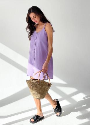Льняное легкое летнее платье сарафан