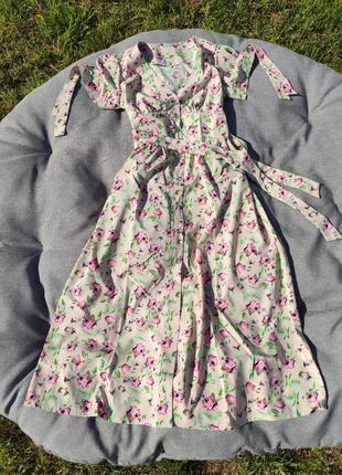 Платье миди из софт ткани сукня міді