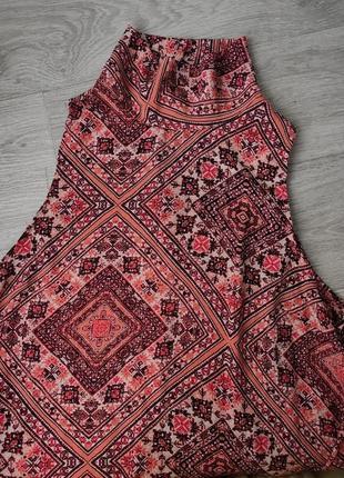Платье етничный принт легкий летний сарафан плюс сайз atmosphere