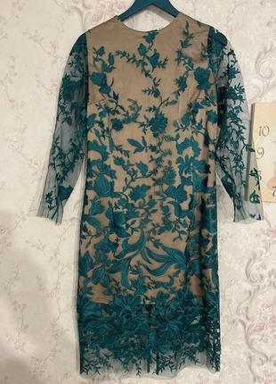 Вечірня сукня з вишивкою