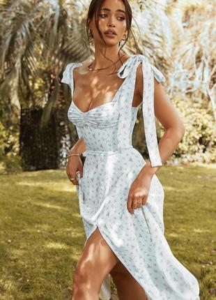 Распродажа платье hope ivy миди milkmaid asos