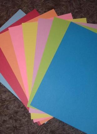 Цветная бумага, двухсторонняя а4, по 0,50 коп с бесплатной доставкой !!!
