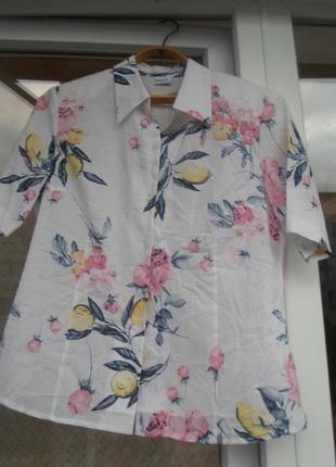 Красивая блузка,рубашка  delmod 46-48-50р. пог-54