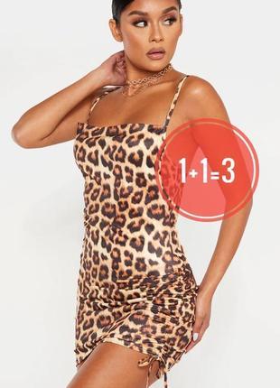 Платье в леопардовый принт prettylittlething