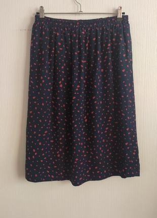 Шелковая юбка на резинке