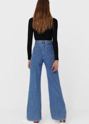 Новые джинсы клёш wide leg палаццо stradivarius