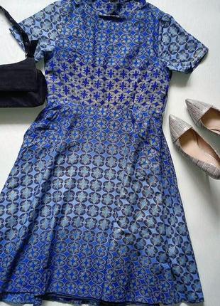 Эксклюзивное платье миди ручной работы