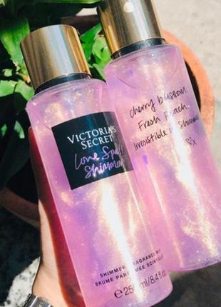 Victoria secret love spell shimmer мист, спрей, парфуми, виктория сикрет косметика