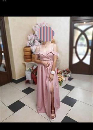Плаття вечірнє, довге плаття, сукня, плаття на випускний, рожеве