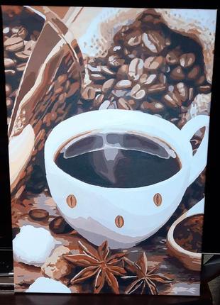 """Картина """" аромат кофе"""" 35х50 cм, акрил"""
