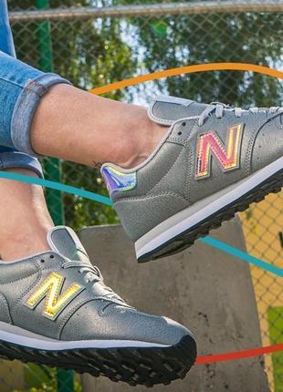 Кроссовки new balance 500 rosa /серебристые перламутровые nb 574 кросівки