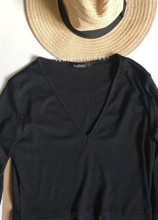 Платье в рубчик миди с разрезом s/m2 фото