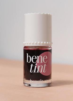 Жидкий, стойкий тинт для губ и щёк benetint от benefit, 10 мл / ml