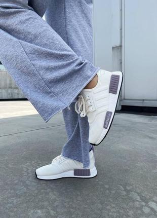 Кроссовки adidas nmd r1  white кросівки