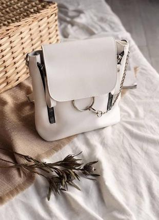 Красивый женский рюкзак с кольцом