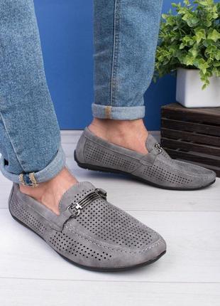 Мужские серые туфли