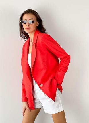 Лляний жіночий піджак